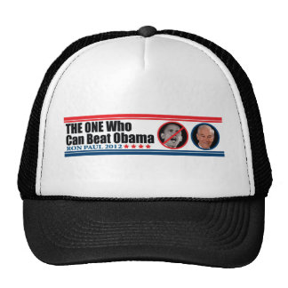 Ron Paul: THE ONE Who Can Beat Obama Trucker Hats