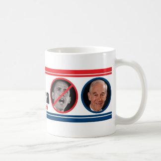 Ron Paul: THE ONE Who Can Beat Obama Classic White Coffee Mug