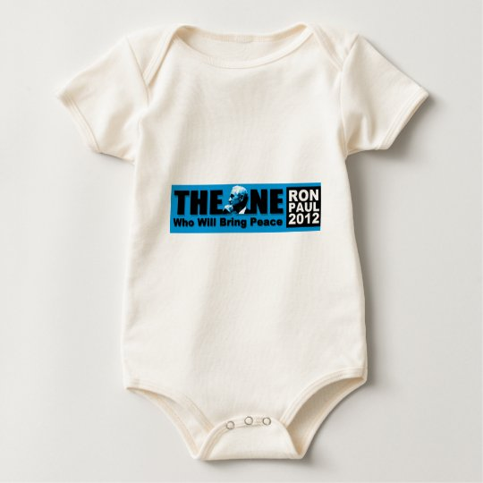 Ron Paul: The ONE Who Will Bring Peace Baby Bodysuit