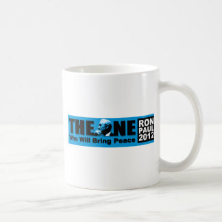 Ron Paul: The ONE Who Will Bring Peace Classic White Coffee Mug