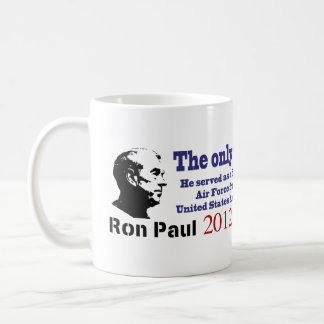 Ron Paul the Only Veteran in the Presidential Race Classic White Coffee Mug