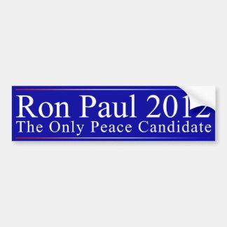 Ron Paul: The Peace Candidate Car Bumper Sticker