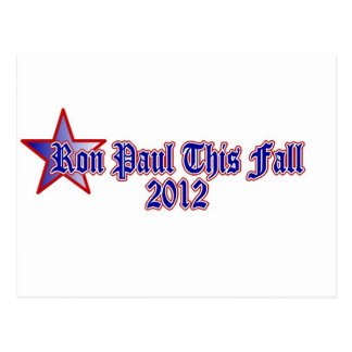 Ron Paul This Fall 2012 Postcard