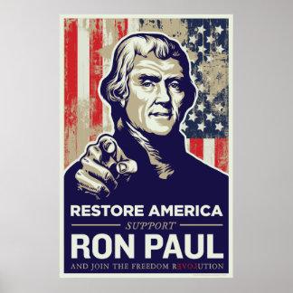 Ron Paul Thomas Jefferson  Print