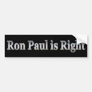 Ron Paul tiene razón Pegatina Para Auto