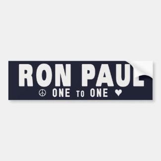 RON PAUL UNO A UNO PEGATINA PARA AUTO
