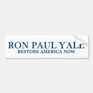 Ron Paul usted - pegatina para el parachoques dive Pegatina Para Auto