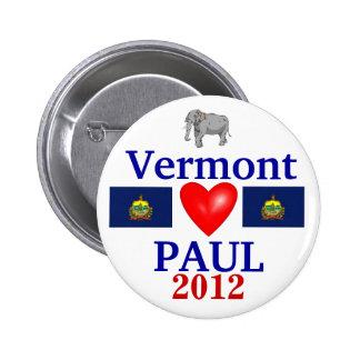 Ron Paul Vermont 2012 Pin Redondo 5 Cm