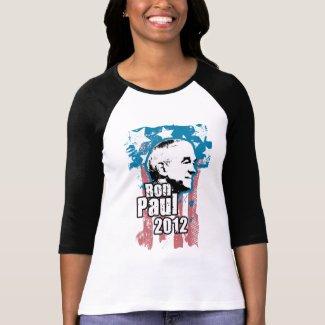 Ron Paul Vintage (4 colors) Womens Raglan shirt