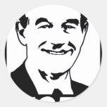 Ron Paul Vote 2012 Black Classic Round Sticker