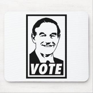 Ron Paul Vote 2012 Black Mouse Pad