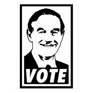 Ron Paul Vote 2012 Black Postcard