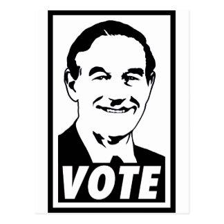 Ron Paul Vote 2012 Black Transparent Postcard