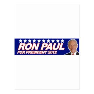 Ron Paul - voto 2012 del presidente de la elección Tarjeta Postal