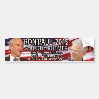 Ron Paul y compinche Roemer para la Casa Blanca 20 Pegatina De Parachoque