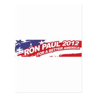 Ron PaulFor 2012 - voto del presidente de la elecc Tarjeta Postal