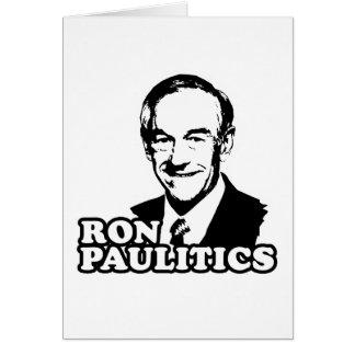 Ron Paulitics Tarjetas