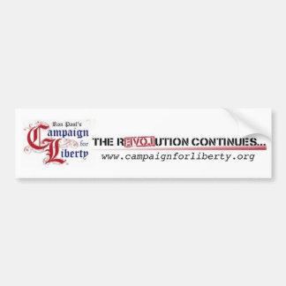 Ron Paul's Campaign for Liberty The Revolution Bumper Sticker
