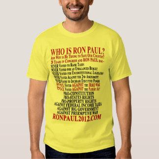 RON PAUL'S VOTING RECORD 2012 SHIRT
