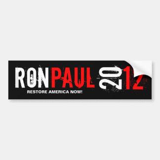 Ron Pual 2012 - restablecimiento América ahora Pegatina Para Auto