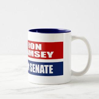 RON RAMSEY FOR GOVERNOR Two-Tone COFFEE MUG
