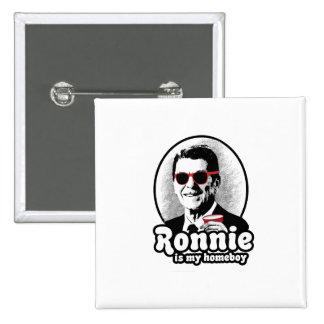 Ron Reagan es mi homeboy Pin Cuadrada 5 Cm