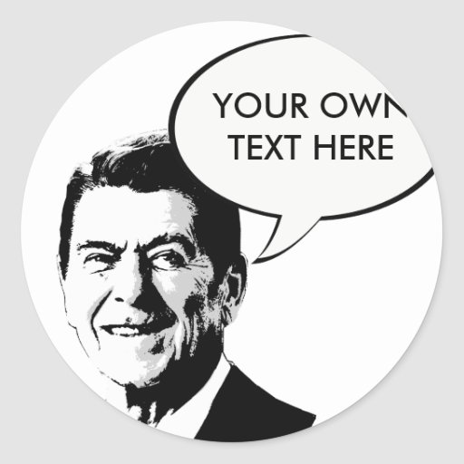 Ron Reagan Round Sticker