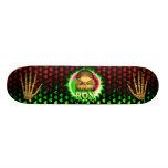 Ron skull green fire Skatersollie skateboard