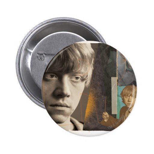 Ron Weasley 8 Pin Redondo De 2 Pulgadas