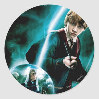 Ron Weasley and Lucius Malfoy Classic Round Sticker