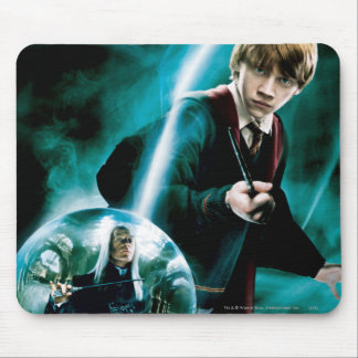 Ron Weasley and Lucius Malfoy Mouse Pad