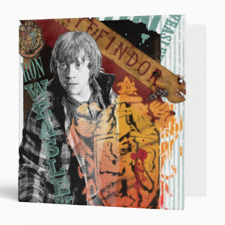 Ron Weasley Collage 1 3 Ring Binder