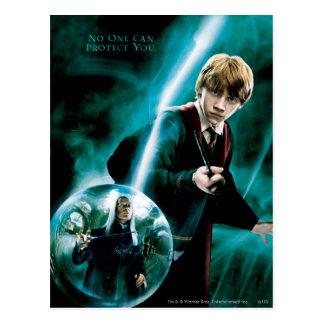 Ron Weasley y Lucius Malfoy Tarjeta Postal