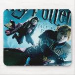 Ron y Ginny en las escobas 1 Mouse Pad