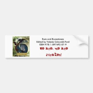 Ron y productos de papel de Runestone Pegatina De Parachoque