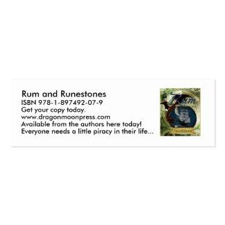 Ron y tarjetas flacas de Runestones Tarjetas De Visita Mini