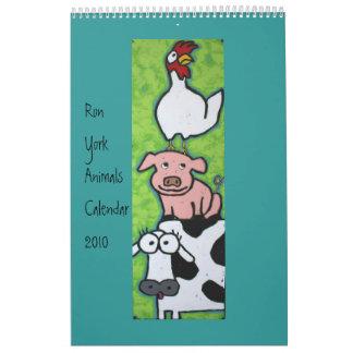 Ron York Animals Calendar 2010