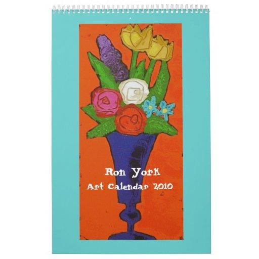 Ron York, calendario 2010 del arte
