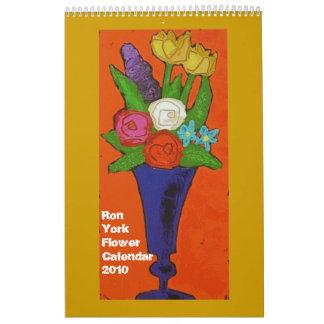 Ron York Flower Calendar 2010
