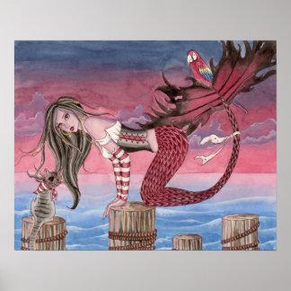 Rona - Pirate Mermaid Poster