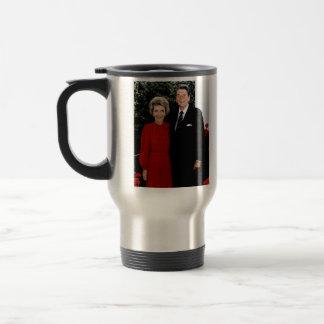 Ronald 1985 y Nancy Reagan Taza Térmica