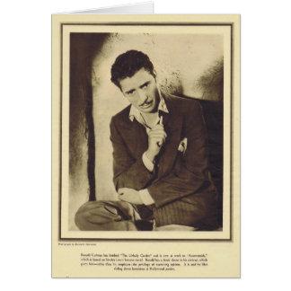 Ronald Colman 1931 portait Card