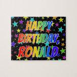 "[ Thumbnail: ""Ronald"" First Name, Fun ""Happy Birthday"" Jigsaw Puzzle ]"