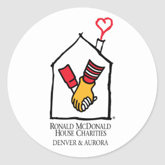 Ronald McDonald Hands Round Sticker