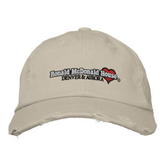 Ronald McDonald Heart Embroidered Baseball Hat