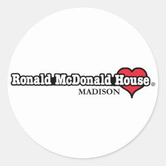 Ronald McDonald Heart Round Sticker