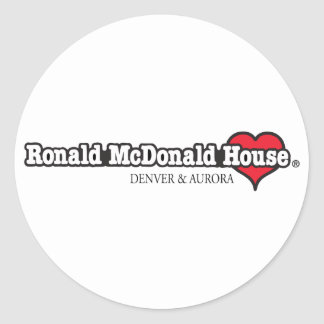 Ronald McDonald Heart Round Stickers