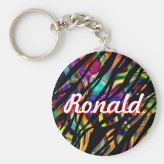 Ronald personalizó llavero colorido
