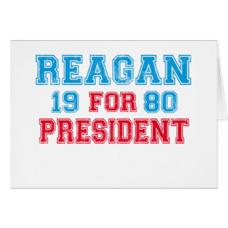 Ronald Reagan 1980 Card