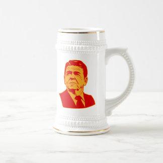 Ronald Reagan 1980 retro portrait 18 Oz Beer Stein